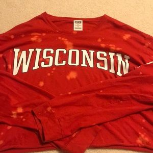 Victoria's Secret Pink Wisconsin Badgers crop.